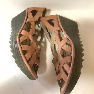 Fly London | Size 39 Yadi Wedge Sandal Pink
